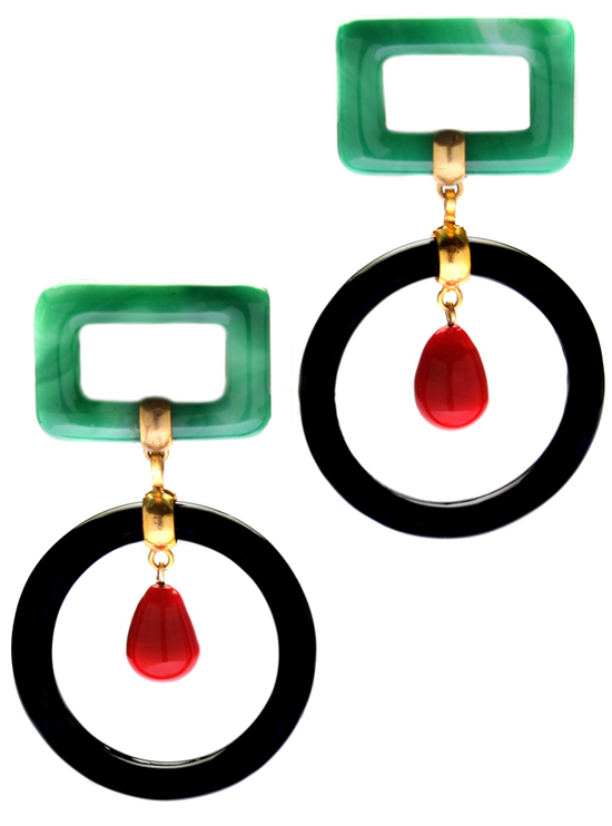 Vintage CHANEL Drop Hoop Earrings