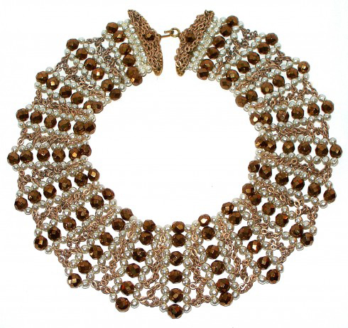 Vintage Coppola e Toppo Italian Beaded Collar Necklace