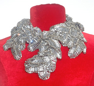 Silver Leaf Collar Necklace, Coppola e Toppo, circa 1960's