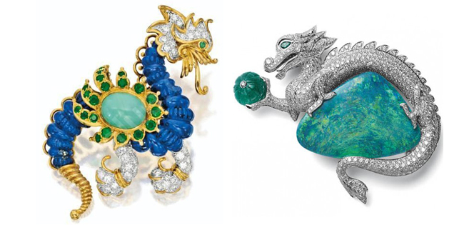cartier dragon brooches