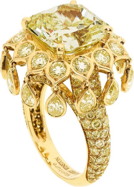 Yellow Diamond Ring by Harry Winston