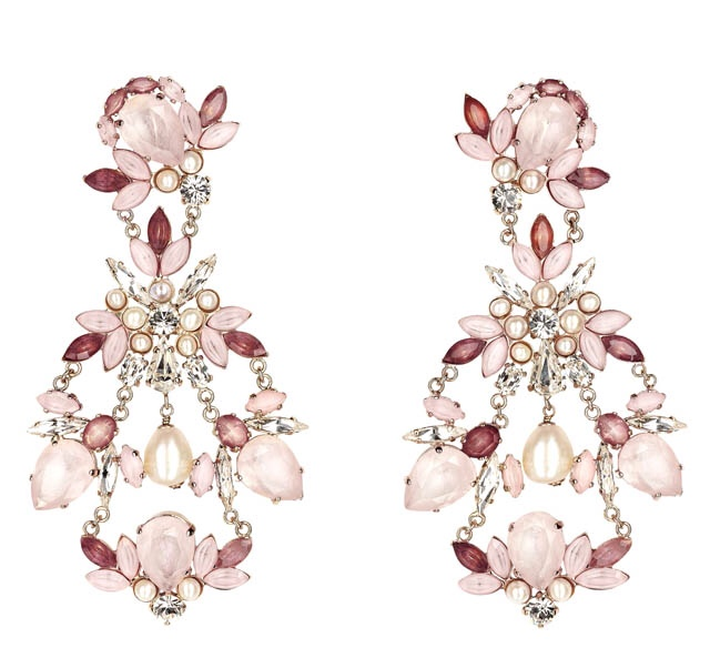 Flower Drop Chandelier Earrings,Chanel Resort Jewelry 2013, Haute Tramp