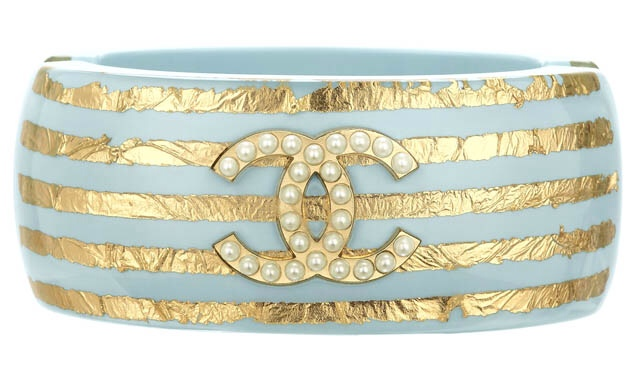 Blue and Gold with Pearl Chanel Bracelet, Chanel Resort 2013 Collection, Haute Tramp
