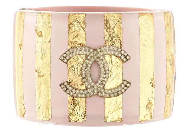 Pink and Gold with Pearl Chanel Bracelet, Chanel Resort 2013 Collection, Haute Tramp