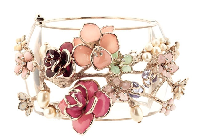 Chanel Flower Bangle Cuff, Chanel Resort Collection 2013, Haute Tramp