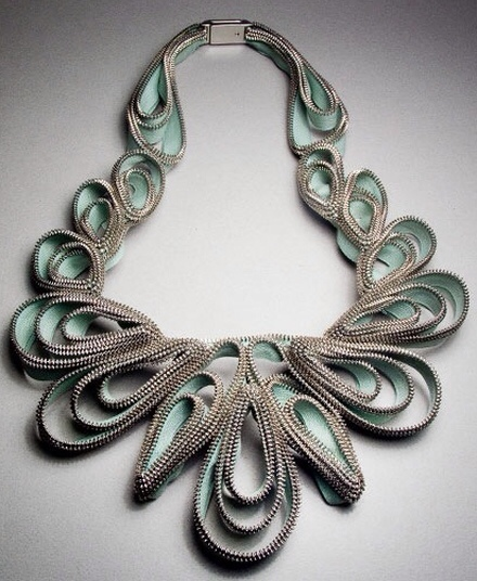 Zipper Bib Necklace by Kate Cusack