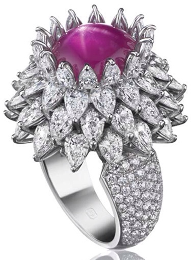 Diamond and Ruby Ring By Harry Winston