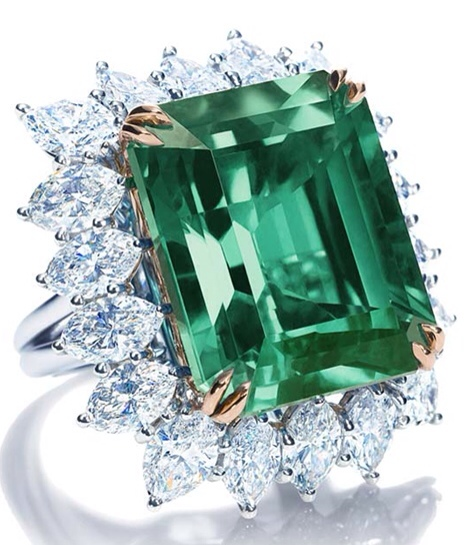 Emerald and Diamond Ring by Harry Winston