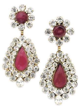 {Daily Jewel} Vintage Chanel Gripoix Chandelier Drop Earrings via Haute Tramp