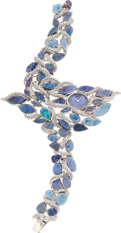 Piaget Lady's Diamond, Opal, White Gold Wristwatch, haute tramp blog