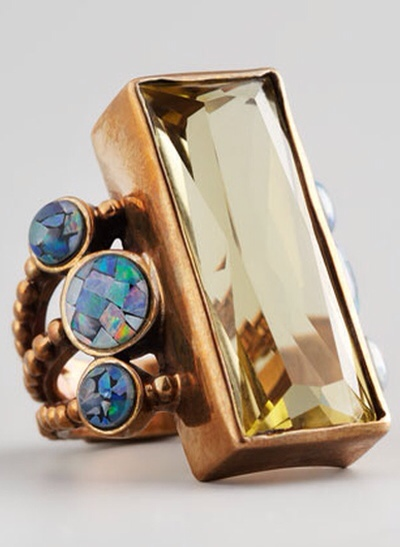 Stephen Dweck Multi-Stone Rectangle Ring, Haute Tramp
