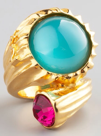 Golden Snail Ring, Green by Yves Saint Laurent at Neiman Marcus