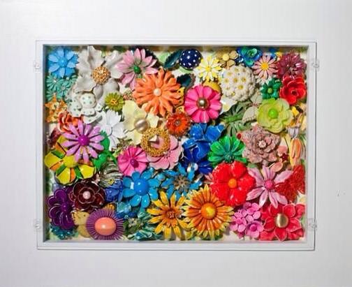 Vintage Flower Brooch Display by Haute Tramp