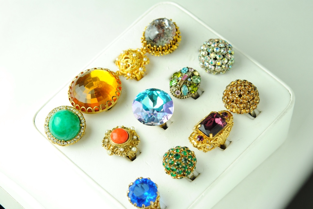 Collection of Vintage Cocktail Rings, Haute Tramp's Personal Treasure Trove