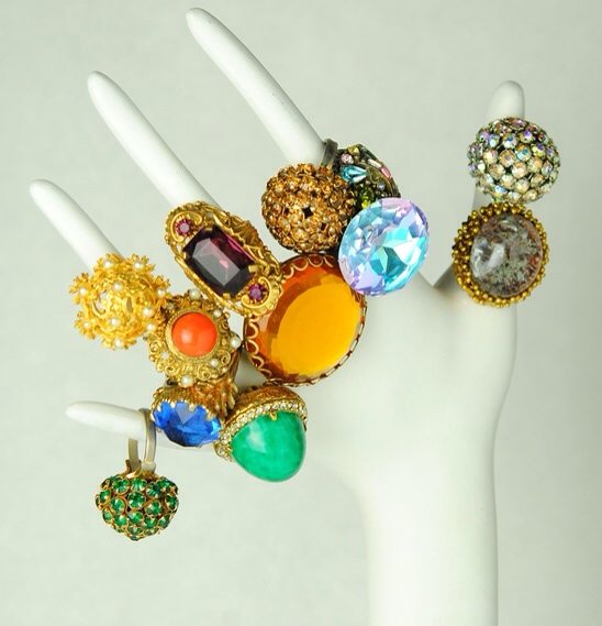 Vintage Cocktail Rings, Haute Tramp Vintage Collection