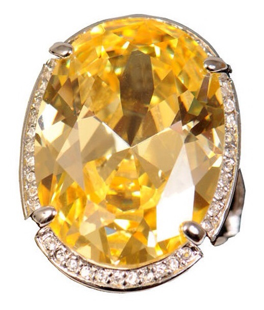 Vintage Yellow Diamond Cocktail Ring