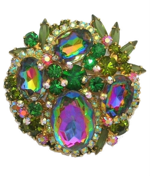 Vintage Juliana Watermelon Brooch, Haute Tramp-Living the Jeweled Life
