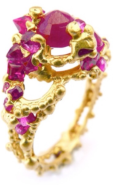 RUBY SOLOMON RING by Polly Wales via Haute Tramp
