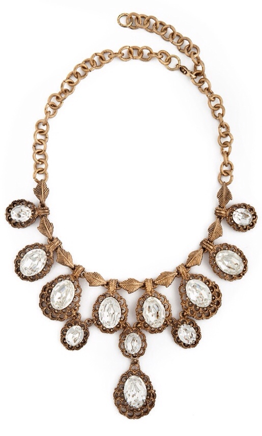 Vintage Costume Jewelry Love- Ciner Cascading Crystal Necklace | Haute Tramp