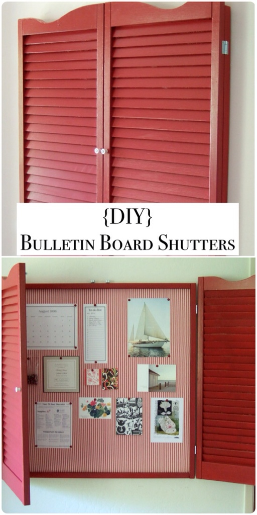 DIY BULLETIN BOARD SHUTTERS!!!