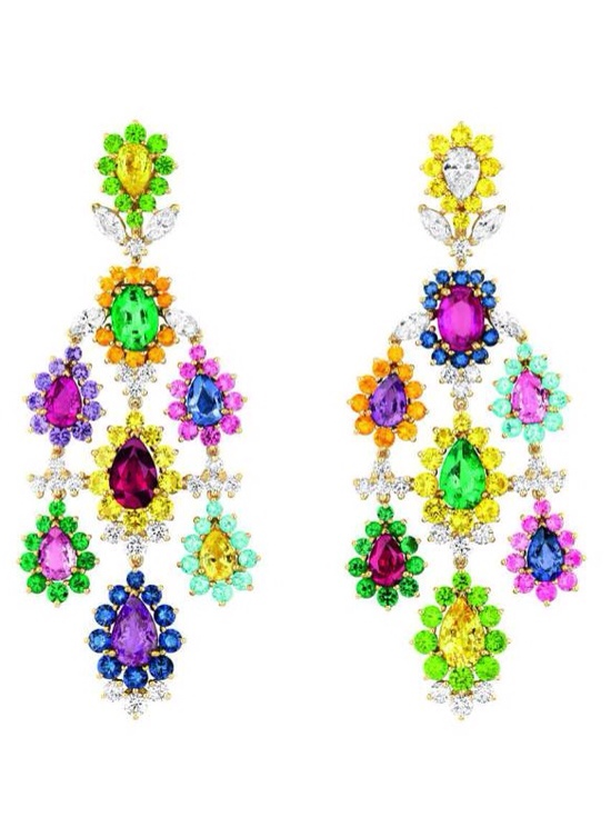 Cher Dior Exquise Pink Sapphire Earrings, Haute Tramp