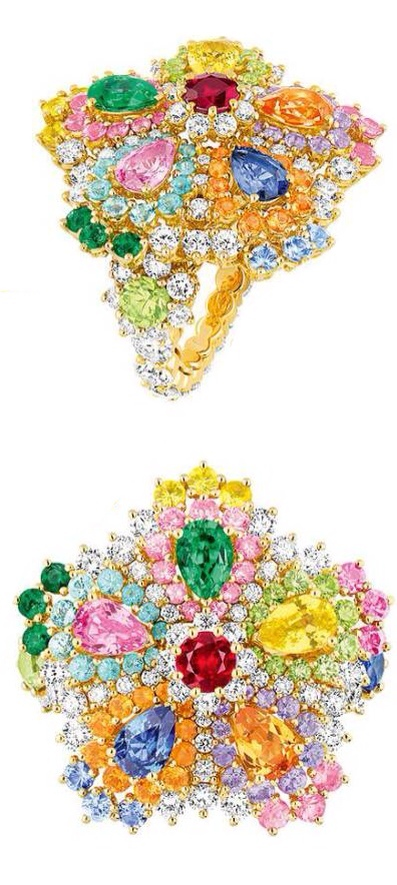 Cher Dior Majestueuse Multi-colored Ring, Haute Tramp