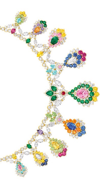 Cher Dior Majestueuse Multi-colored Necklace Details, Haute Tramp