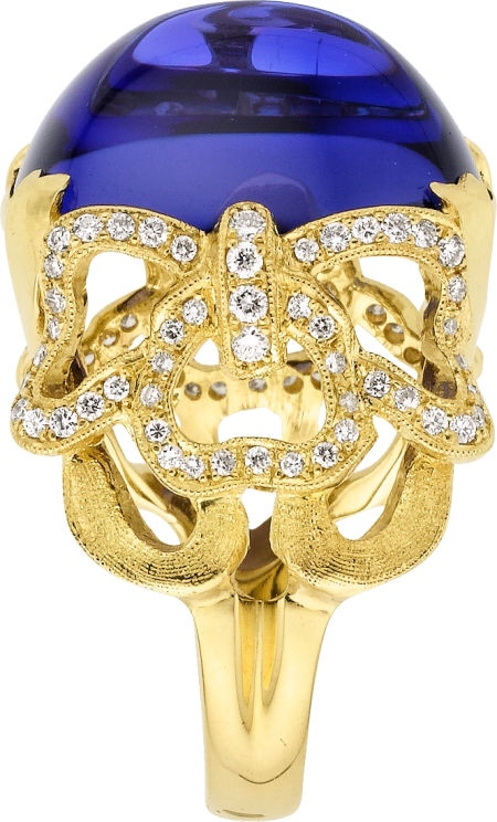 Tanzanite, Diamond, Gold Ring, by Cynthia Bach, via Haute Tramp