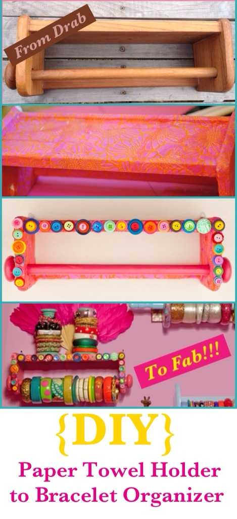 {From Drab To Fab} {DIY Bracelet Organizer}