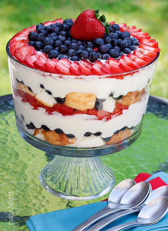 Red, White, and Blueberry Trifle | 5 Quick and Easy Last Minute Fourth of July Desserts