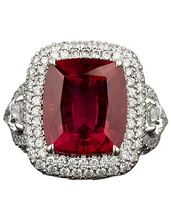 Rubellite and Diamond Ring, Haute Tramp