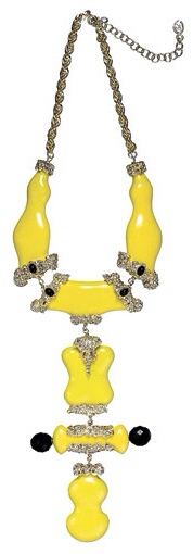{Daily Jewel} Well, Hello Yellow Statement Necklace, Haute Tramp