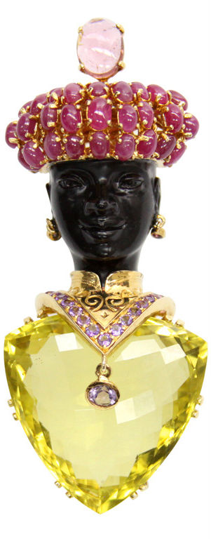 {Daily Jewel} Jarin Lemon Citrine Blackamoor Brooch