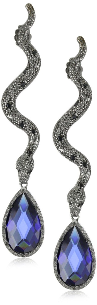 Daily Jewel} Black Rhodium Snake Earrings