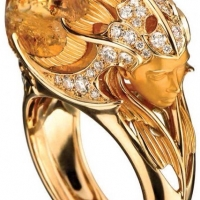 {Daily Jewel} Citrine and Diamond Ring by Magerit