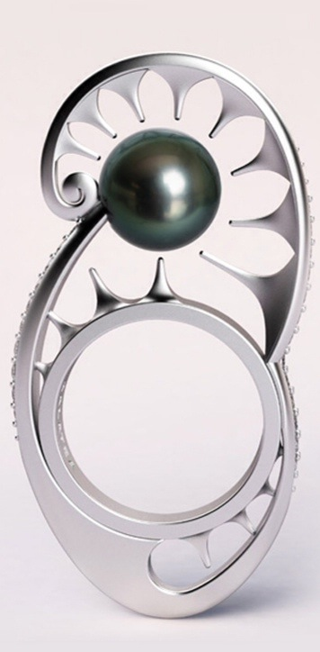 """Bathing in the Moon"" ring by Chi Huynh, Galatea"