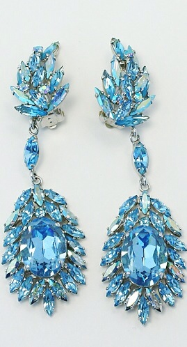 Daily Jewel} Vintage Sherman Rhinestone Earrings