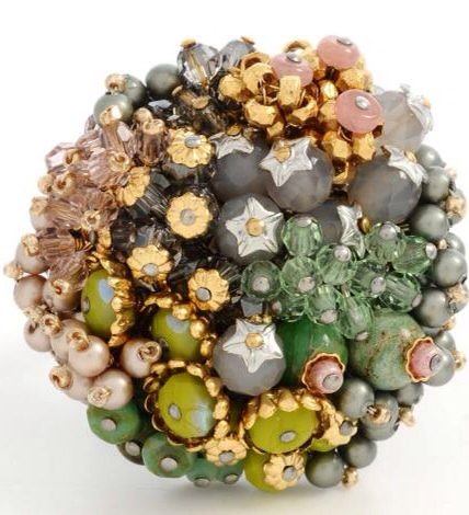 {Daily Jewel} Miriam Haskell Garden Cluster Ring  | Haute Tramp