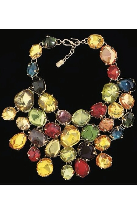 Vintage Couture Jewelry Worthy- Yves Saint Laurent Statement Necklace circa Late 1980's