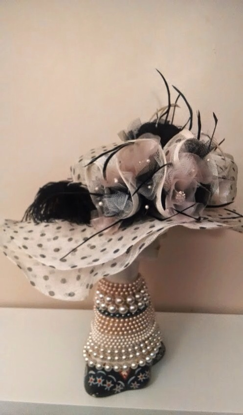 Chanel Inspired Kentucky Derby Hat designed by Haute Tramp