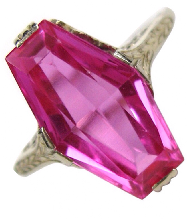 {Gorgeous Ring No. 10} Art Deco Pink Sapphire Ring via Haute Tramp