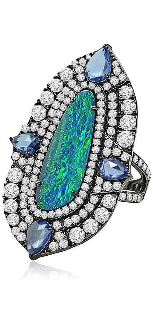 Gorgeous Ring No. 17-Opal Doublet Ring by Sutra | Haute Tramp