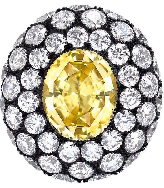 {30 Gorgeous Rings in June} Ring No. 27-Yellow Sapphire and Diamond Ring By Tamir | Haute Tramp