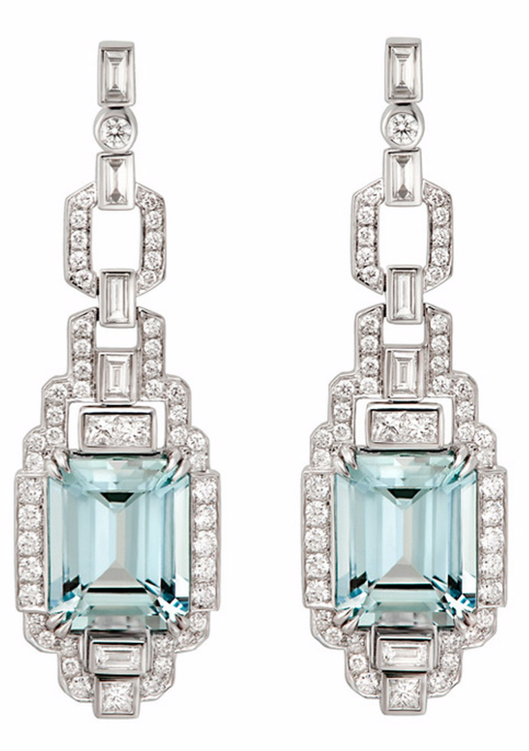 0bec361689784 Daily Jewel} Aquamarine and Diamond Earrings by Flora Gonzalez ...