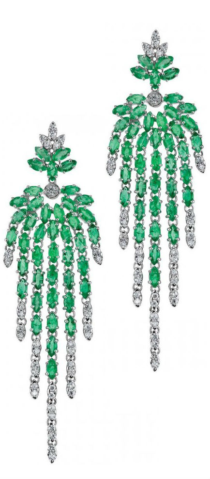 Emerald Earrings by Carla Amorim, via Haute Tramp