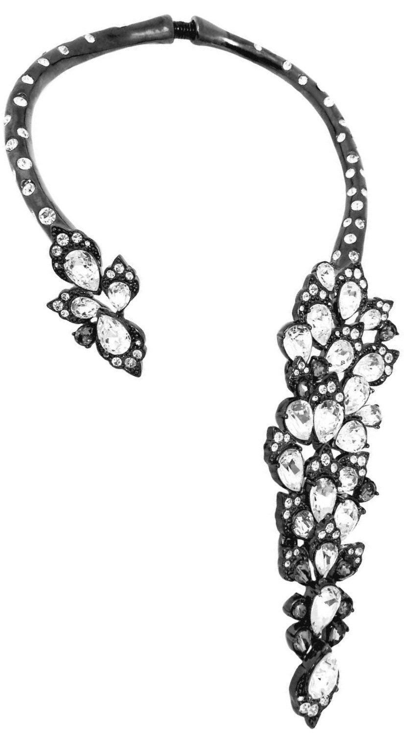 {Vintage Costume Jewelry Love} Runway Vintage Oscar de la Renta Clear Crystal Necklace