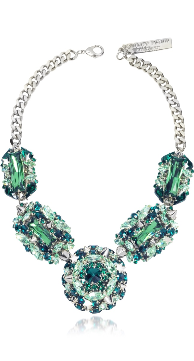 {Spring Statement Jewelry 2015} The Casino Princess Green Women's Necklace By PHILIPP PLEIN