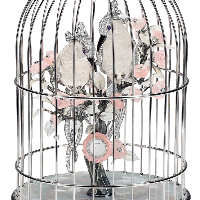 The Birds Cage Clock by Chanel-Details via Haute Tramp
