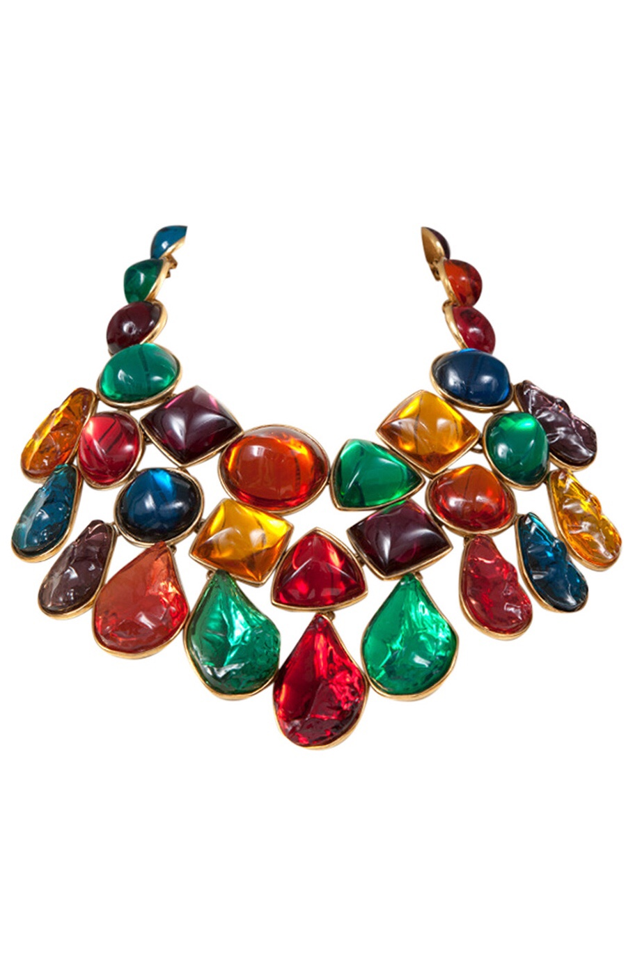 {Vintage Costume Jewelry Love} Giant Jeweled Bib Necklace by Yves Saint Laurent via Haute Tramp