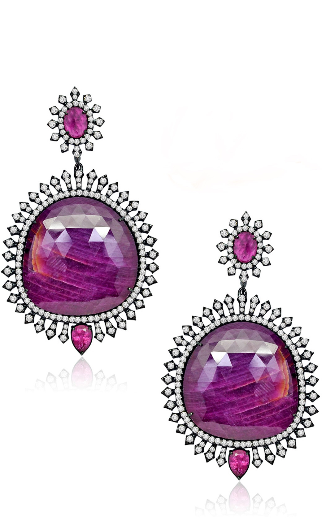 Pink Sapphire Earrings by Sutra via Haute Tramp